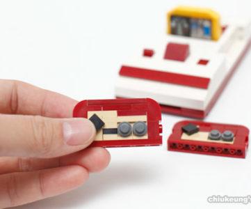 レゴで手のひらサイズに再現された任天堂ゲーム機、ファミコンとNES