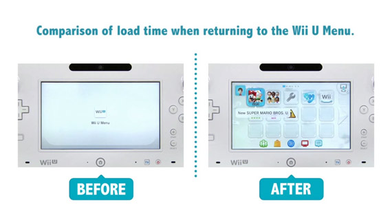Wii U、4月の本体更新で3倍速くなる任天堂公式のビフォーアフター比較動画
