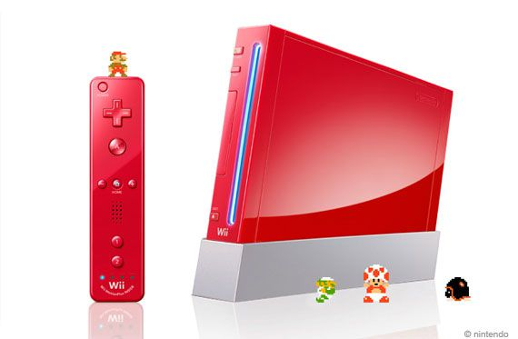 "[Wii] 任天堂、""スーパーマリオ25周年""仕様の新色「アカ」を発売。付属のWiiリモコンも新型に"